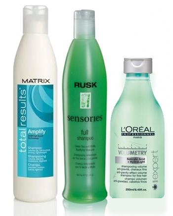 szampony do włosów cienkich